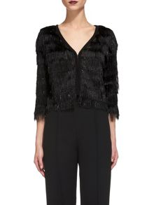 Whistles Sparkle Fringe Jacket