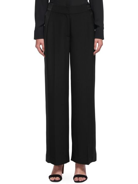 Whistles Satin Stripe Wide Leg Trouser