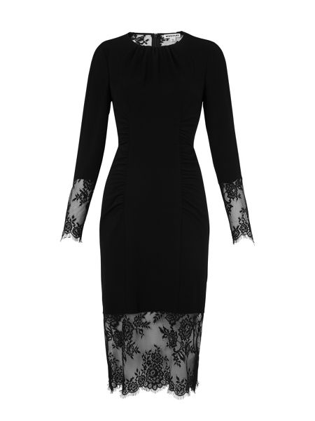 Whistles Izzy Lace and Crepe Bodycon