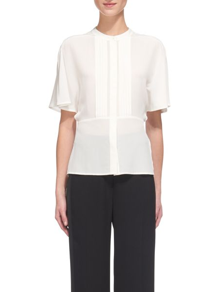 Whistles Esme Silk Pintuck Blouse