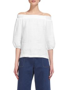 Whistles Lila Bardot Linen Top