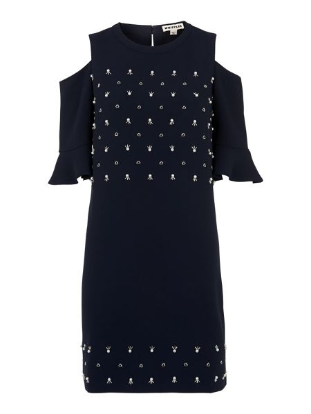 Whistles Scarlett Embellished Dress