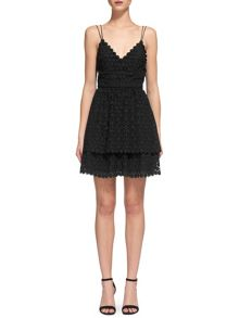 Whistles Daisy Tiered Lace Dress