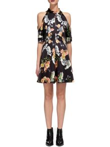 Whistles Aiko Print Cold Shoulder Dress
