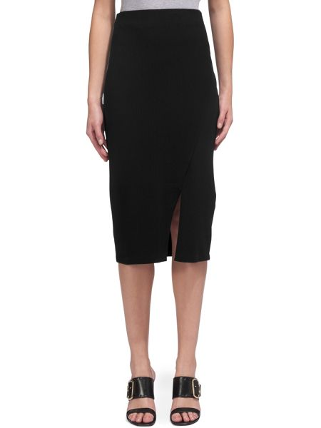 Whistles Ribbed Jersey Tube Skirt