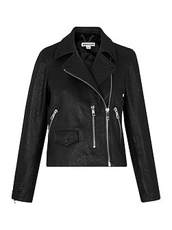 Agnes Bubble Leather Biker