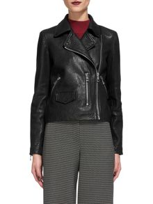 Whistles Agnes Bubble Leather Biker