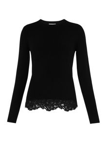 Whistles Lace Hem Knit