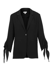 Whistles Satin Tie Cuff Jacket