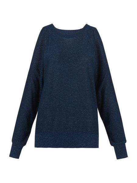 Whistles Split Shoulder Sparkle Knit