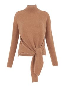 Whistles Tie Side Rib Sweater