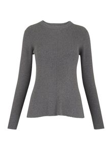 Whistles Fit and Flare Rib Sweater