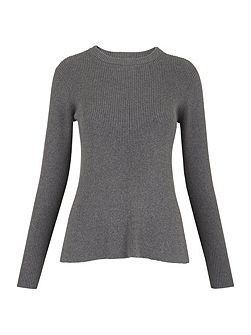 Fit and Flare Rib Sweater
