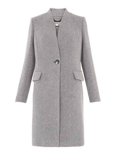 Whistles Aniko Collarless Coat