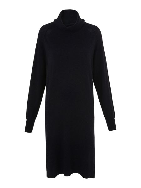 Whistles Cowl Neck Casual Knit Dress
