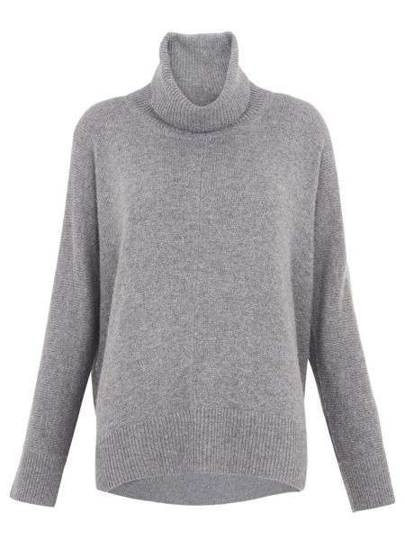 Whistles Dipped Back Roll Neck Knit
