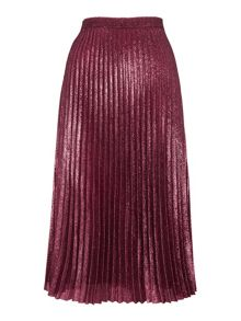 Whistles Kitty Metallic Pleated Skirt
