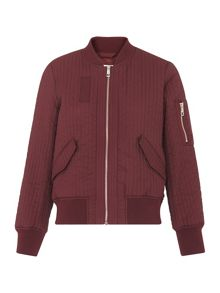 Whistles Quilted Bomber Jacket