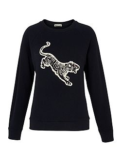 Tiger Embroidered Sweat