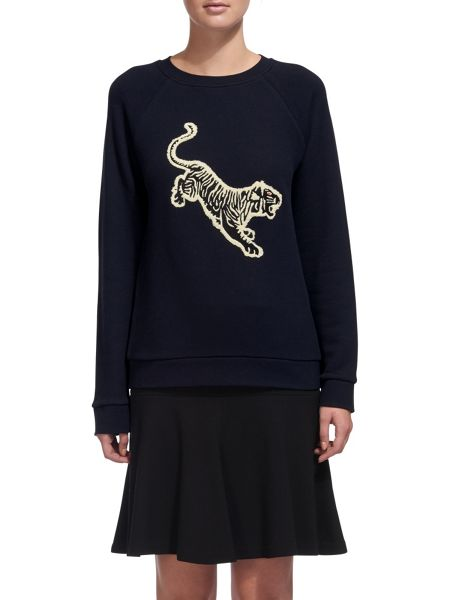 Whistles Tiger Embroidered Sweat