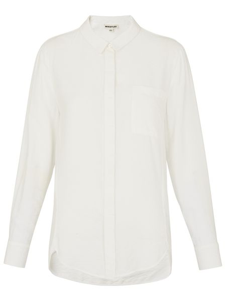 Whistles Emilia Plain Shirt