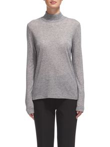 Whistles Wool Mix Jersey Polo Neck
