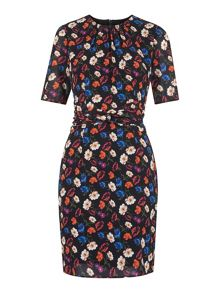 Whistles Summer Pansy Print Bodycon