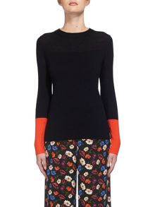 Whistles Colour Block Cuff Knit