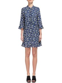 Whistles Bell Flower Print Shirt Dress