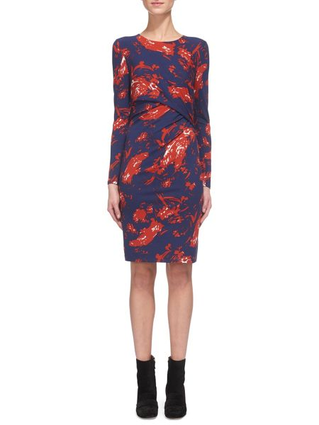 Whistles Brushed Floral Jersey Dress