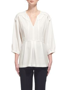 Whistles Eliza Trim Blouse