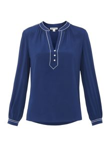 Whistles Jocelyn Silk Blouse