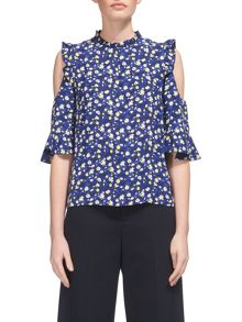 Whistles Bibi Cold Shoulder Top