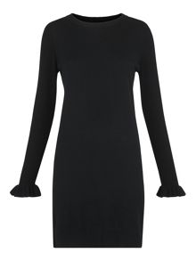 Whistles Frill Cuff Knit Dress