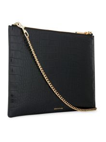 Whistles Shiny Croc Rivington Clutch