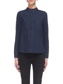 Whistles Matilda Frill Neck Blouse