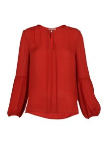Whistles Erin Tie Silk Blouse