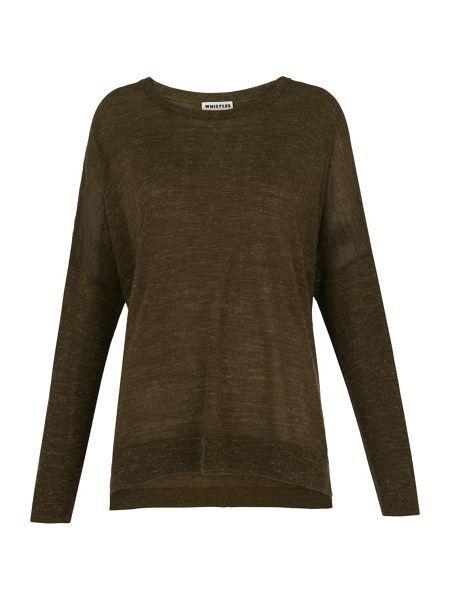 Whistles Crew Neck Marl Knit