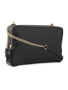 Whistles Carter Croc Double Zip Bag