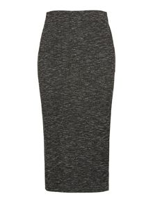 Whistles Ribbed Marl Jersey Tube Skirt