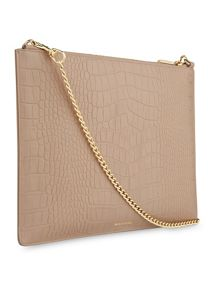 Whistles Matte Croc Rivington Clutch