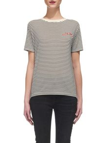 Whistles Tres Bon Embroidered T-shirt