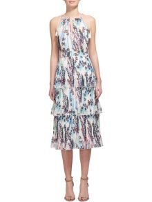 Whistles Imie Fleur Print Tiered Dress