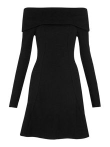 Whistles Alina Roll Neck Jersey Dress