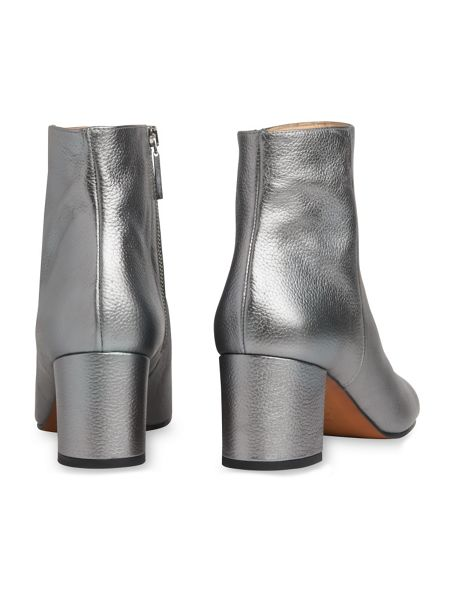 Whistles Logan Square Toe Metallic Boot