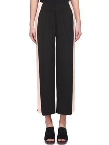 Whistles Wide Side Strip Crop Trouser