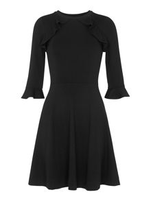 Whistles Fluted Jersey A-line Dress