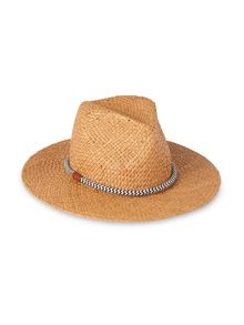 Whistles Rope Detail Panama Hat