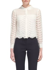 Whistles Penny Crop Lace Top
