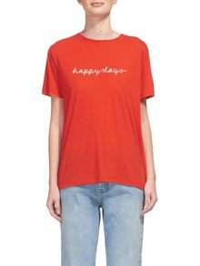 Whistles Happy Days Embroidered T-shirt